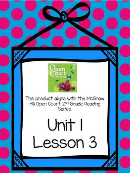 Second Grade Open Court Reading Comprehension and Vocabulary Unit 1 Lesson 3