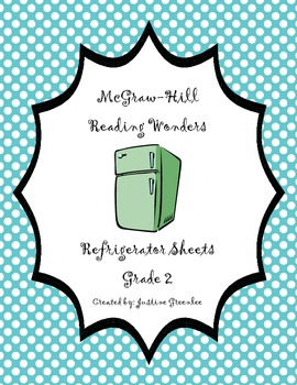 2nd Grade McGraw-Hill Reading Wonders Refrigerator Sheets for Unit 1