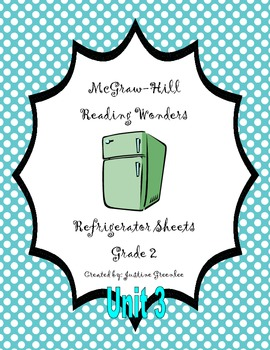 2nd Grade McGraw-Hill Reading Wonders Refrigerator Sheets for Unit 3