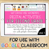 2nd Grade McGraw-Hill Wonders Digital Activities for Googl