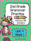 2nd Grade McGraw-Hill Wonders Grammar Practice Unit 4 Week