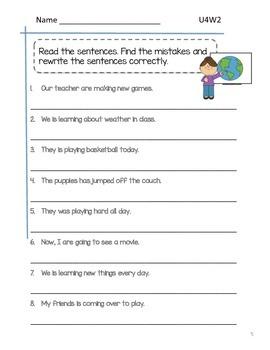 2nd Grade McGraw-Hill Wonders Grammar Practice Unit 4 Week 2 / Helping Verbs