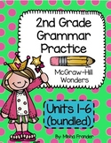 2nd Grade McGraw-Hill Wonders Grammar Practice Units 1-6 (