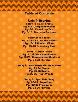 2nd Grade McGraw Hill Wonders Interactive Notebook Unit 4