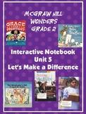 2nd Grade McGraw Hill Wonders Interactive Notebook Unit 5