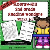 2nd Grade McGraw Hill Wonders Reading Practice Unit 3 Weeks 1-5