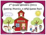 Wonders McGraw-Hill 2nd Grade Unit 6 Spelling & Phonics Games (RF.2.3, LCCR.2)