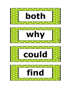 2nd Grade McGraw-Hill Wonders Unit 1-6 High Frequency Word Cards