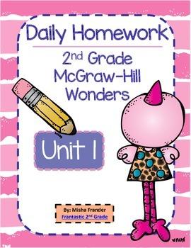 2nd Grade McGraw-Hill Wonders Unit 1 Daily Homework