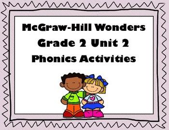 2nd Grade McGraw Hill Wonders Unit 2 Phonics Word Work