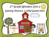 Wonders McGraw Hil 2nd Grade Unit 2 Spelling & Phonics Games (RF.2.3, LCCR.2) l