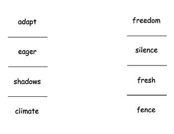 2nd Grade McGraw Hill Wonders Unit 2 Vocabulary lift the f