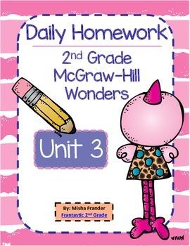 2nd Grade McGraw-Hill Wonders Unit 3 Daily Homework