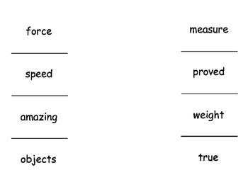 2nd Grade McGraw Hill Wonders Unit 3 Vocabulary lift the f