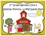 Wonders McGraw Hill 2nd Grade Unit 4 Spelling & Phonics Games (RF.2.3, LCCR.2)