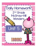 2nd Grade McGraw-Hill Wonders Unit 5 Daily Homework