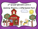 Wonders McGraw Hill 2nd Grade Unit 5 Spelling & Phonics Games (RF.2.3, LCCR.2)
