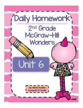 2nd Grade McGraw-Hill Wonders Unit 6 Daily Homework