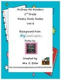 2nd Grade McGraw-Hill Wonders Unit 6 Study Guides