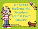 2nd Grade McGraw-Hill Wonders Unit 6 Test Review