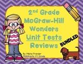 2nd Grade McGraw-Hill Wonders Unit Test Reviews - Bundled