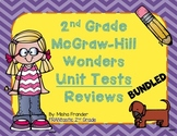 2nd Grade McGraw-Hill Wonders Unit Test Reviews - Bundled