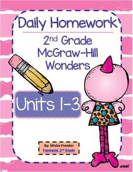 2nd Grade McGraw-Hill Wonders Units 1-3 Daily Homework