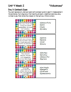 2nd Grade McGraw-Hill Wonders Units 4-6 Daily Homework