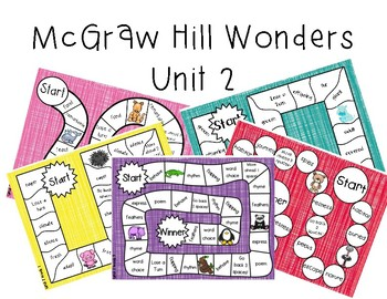 2nd Grade McGraw Hill Wonders Vocabulary Games Unit 2