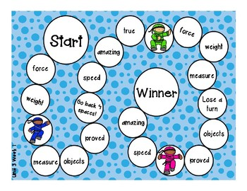 2nd Grade McGraw Hill Wonders Vocabulary Games Unit 3
