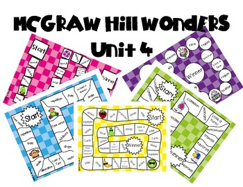 2nd Grade McGraw Hill Wonders Vocabulary Games Unit 4