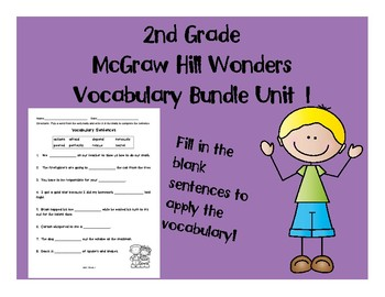 2nd Grade McGraw Hill Wonders Vocabulary Packet Unit 1