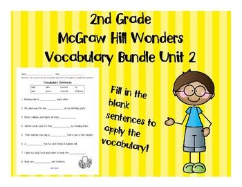 2nd Grade McGraw Hill Wonders Vocabulary Packet Unit 2