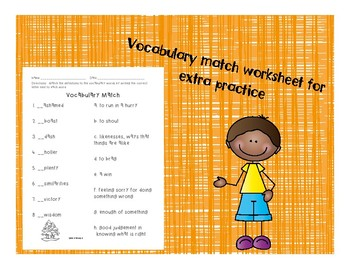 2nd Grade McGraw Hill Wonders Vocabulary Packet Unit 4