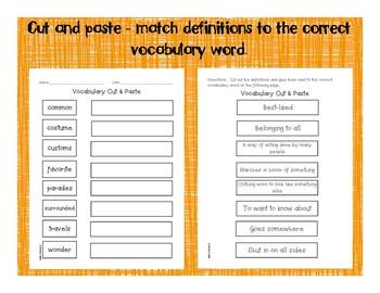 2nd Grade McGraw Hill Wonders Vocabulary Packet Unit 4