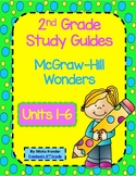 2nd Grade McGraw-Hill Wonders Weekly Study Guides Units 1-6