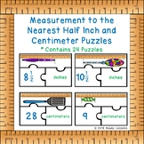 2nd Grade Measurement Activity Measure Length Inches & Centimeters Puzzle 2.MD.1
