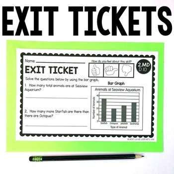 2nd Grade Measurement & Data Exit Tickets