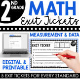 2nd Grade Measurement & Data Exit Tickets (Exit Slips)