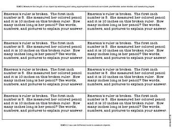 2nd Grade Measurement & Data Journal Questions