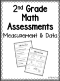 2nd Grade Measurement & Data Math Assessments - Pre and Po