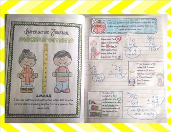 2nd Grade Measurement Interactive Journal- All Measurement Common Core Standards