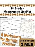 2nd Grade - Measurement Line Plot - Common Core 2.MD.9