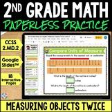 2nd Grade Measuring Length Twice Google Classroom Distance