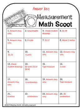 2nd Grade Measurement Scoot!