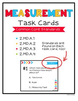 2nd Grade Measurement Task Cards