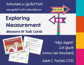 2nd Grade Measurement Task Cards -- Measure It!