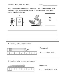 2nd Grade Measurement Test