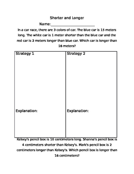 2nd Grade Measurement Word Problems