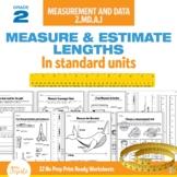 2nd Grade Measurement Worksheets 2.MD.A.1   No Prep PDF   Distance Learning